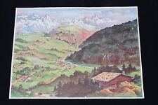 V115 Affiche Scolaire la  montagne jeune / La colline 21 22 chalet neige forêt