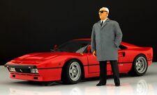 Enzo Ferrari (2) Figure pour 1:18 Kyosho F40 250GTO BBR VERY RARE!