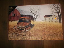 Battery Operated Lighted Canvas Grandads Ole Truck  Ohio Folkartist Billy Jacobs