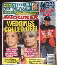 National Enquirer March 24, 2008 Katie Couric Nicole Richie Heather Locklear