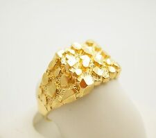 Men's 10K Yellow Gold Thin Nugget Ring 2.2 g