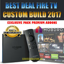 UNLOCKED AMAZON FIRETV 4K BUILD 2017 +APPS BEST DEAL FULLY LOADED PREMIUM ADDONS
