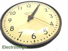 "Vintage Industrial Wall School Clock Simplex 13"" 110V Glass/Steal *507-041* USA"