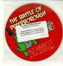 (DC814) The Battle of Peterborough, MJ Hibbett & The Validators - 2012 DJ CD