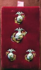 Fantastic Hallmarked USMC M1936 Officer Full Dress EGA Set Original Velvet Card