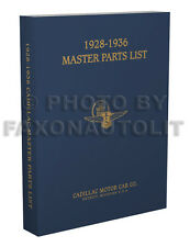 1928-1936 Cadillac Illustrated Master Parts Book Catalog all including LaSalle