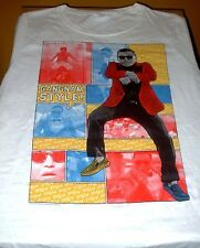 PSY Gangnam Style New T-shirt Colorful Psy Dancing 100% Cotton XL White