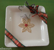 "HALLMARK SNOWFLAKE SUGAR COOKIE RECIPE 7"" PLATE & COOKIE CUTTER NEW"