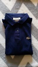 Lacoste navy blue girls t-shirt top polo Crystal alligator 14 12 nice 3/4 sleeve