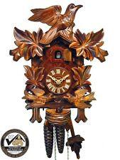 Schwarzwälder Kuckucks-Uhr/Schwarzwald-Uhr mechanisch 1-Tag fütternde Vögel Holz