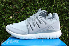 ADIDAS TUBULAR RADIAL SZ 11.5 LIGHT GREY CORE BLACK VINTAGE WHITE S80112