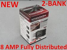 NEW MotorGuide 2 Bank On-Board Boat Battery Charger 8 Amp Dual 31708 Waterproof