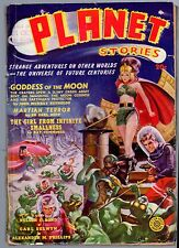 GLOSSY UNREAD Spring 1940 20c PLANET STORIES Mag! 2nd Issue! Original Title Logo