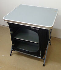 EUROHIKE 3 SHELF COLLAPSIBLE CUPBOARD CAMPING TABLE STORAGE - SLIGHT DAMAGE