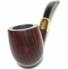 ENGLISH ESTATE PIPE: DUNHILL DR 10 BRUYERE WITH AD GOLD MOUNT PATENT 1922