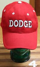 HEADLINER, DODGE RED COTTON CAP, VELCRO ADJ, GREAT SHAPE!!