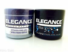 2 PC ELEGANCE BY SADA PACK TRIPLE ACTION GEL & MEDIUM HOLD HAIR GEL POMADE 500ML