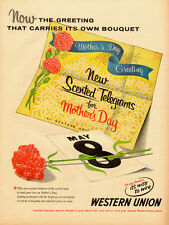 1950 vintage AD, Scented Telegrams for Mother's day! WESTERN UNION -122713