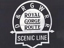 Vintage D&RGW Rio Grande Royal Gorge Route Railroad Rail Flag 2'x3' Made in USA