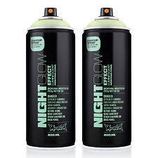 Montana NIGHT GLOW In The Dark Acrylic Luminescent Spray Paint Urban Art 2 Cans