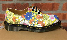 DR. MARTENS 1461 YELLOW JAUNE VINTAGE DAISY  LEATHER  SHOES SIZE UK 8