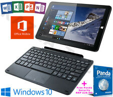 "LINX 1010b INTEL QUAD CORE 32gb 2gb Windows 10 Office 10.1"" Tablet Keyboard Dock"