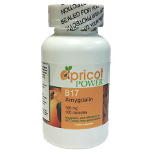 Apricot Power Bitter Seed Capsules 100 mg - 100 caps B17 Source