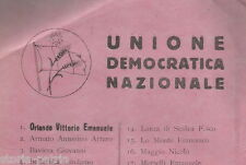 POLITICA_SICILIA_ELEZIONI POLITICHE_UNIONE DEMOCRATICA NAZIONALE_PROPAGANDA_RARO