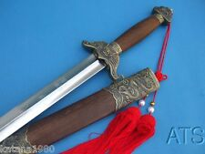 Chinese Hand Forged Tai Chi Sword Flexible Blade Full Tangn Free Red Tassel
