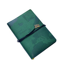 WORLD TRAVEL JOURNAL Green Embossed Bucket List Holiday Travellers Notepad Book
