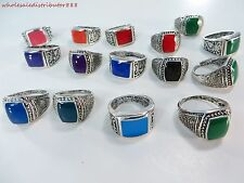 *US Seller*20 pcs wholesale rings vintage style enamel fashion rings