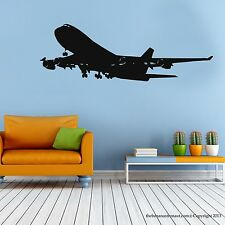 Airplane Wall Decal Stickers Decor Easy Removable Sticker Made in US