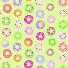 Donuts Sweet Things Fabric By Yard Cotton Lime Green Lakehouse Dry Goods dessert