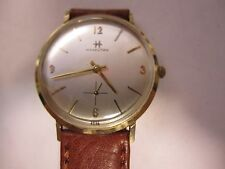 "Mens  Vintage Hamilton Solid 14K Gold Watch, 17J  ""50TH BIRTHDAY"" AND WORKING"