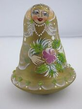 Russian Souvenir Hand Painted Rolly Polly Doll Bell New