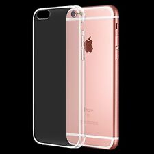 For New Apple iPhone 6S/6 Crystal Clear Thin Back TPU Gel Jelly Skin Case Cover