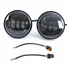 """Pair 4.5"""" 30W Auxiliary LED Fog Light Daymaker Passing Lamp for Harley Davidson"""