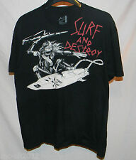 Men's Rusty Surf and Destroy surfing T shirt size XLarge