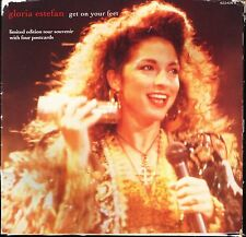 "GLORIA ESTEFAN get on your feet 655450 0 postcard pack uk epic 7"" PS EX/VG"