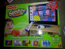 NEW Fisher Price Splatster Wireless Brush Paint Draw Electronic TV Plug In Game