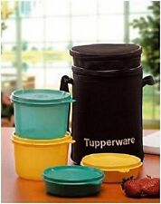 New-Tupperware Executive Lunch Set with Bag, 4-Pieces (186B)