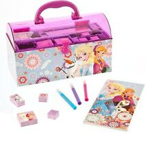 Disney Store Anna Elsa Olaf Stamp Stamper Colouring Activity Set Kit Xmas Gift