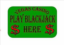 Las Vegas Casino Sign Reproduction Vegas Blackjack Sign Vegas Style Casino Sign
