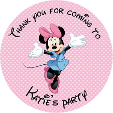 PERSONALISED,MINNIE MOUSE BIRTHDAY,THANK YOU STICKERS, SEALS LABELS
