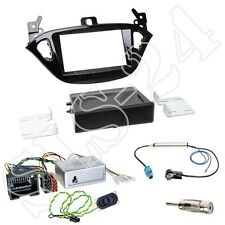 OPEL Adam S-D Doppel 2-DIN Blende+Fach Kenwood CAN-Bus Lenkradinterface+Antenne