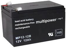 Multipower 12V / 12Ah batterie au plomb MP12-12B