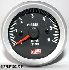 52mm black face Voiture Van off road 4x4 Diesel Rev Gauge Compteur tacho