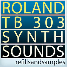Roland Tb 303 Synth Samples Bass Reason NNXT Refill Wav Soundfont Exs 24 Akai CD
