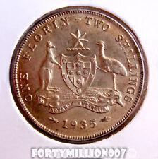 AUSTRALIA 1935 FLORIN / 2 SHILLINGS EF CV $200-$425