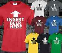 INSERT BEER HERE Mens T Shirt Funny Joke Slogan Drinking Printed Comedy T-shirt